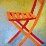 Terry Wise Folding Chair  oil on panel  8x8