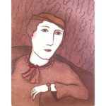 """Peter Barger  Lady at Sofa hand colored etching #29/90 10"""" x 7.75"""" paper size 14"""" x 11"""" $125"""