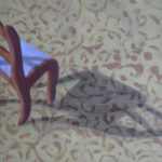 Terry Wise Little Chair Big Shadow  oil on panel  8x8